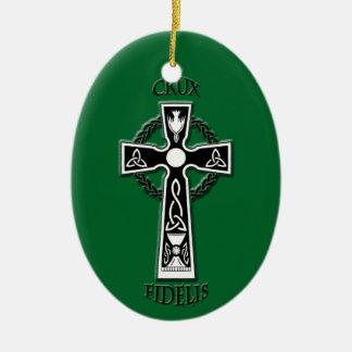 Ornement Ovale En Céramique Croix celtique