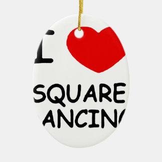 Ornement Ovale En Céramique danse carrée du coeur i