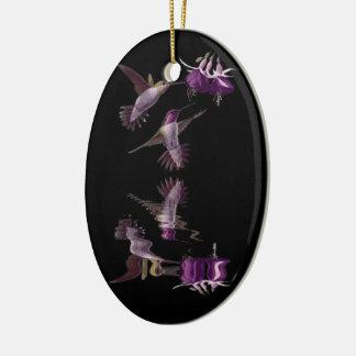 Ornement Ovale En Céramique Danse du colibri