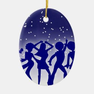 Ornement Ovale En Céramique Danseurs de disco