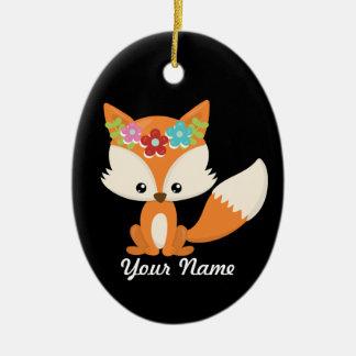 Ornement Ovale En Céramique Décor d'arbre de Noël de Fox