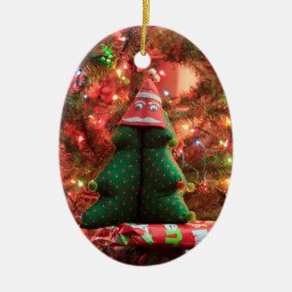 Ornement Ovale En Céramique Décoration d'arbre de Noël