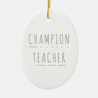 Ornement Ovale En Céramique Décoration en céramique de Noël de professeur de