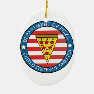 Ornement Ovale En Céramique Département de pizza