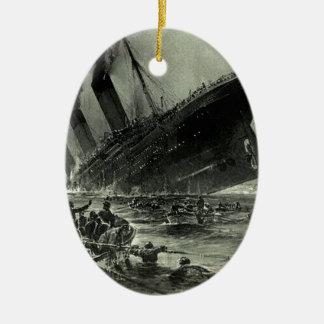 Ornement Ovale En Céramique Descente titanique