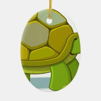 Ornement Ovale En Céramique Dessin de bande dessinée de tortue