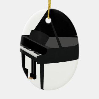 Ornement Ovale En Céramique Dessin de piano à queue