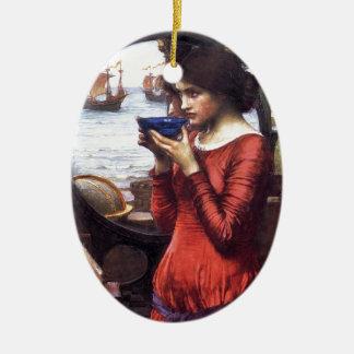 Ornement Ovale En Céramique Destin, par John William Waterhouse, 1900