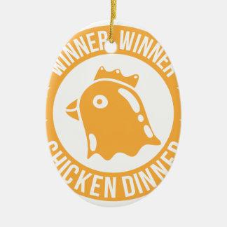 Ornement Ovale En Céramique Dîner de poulet