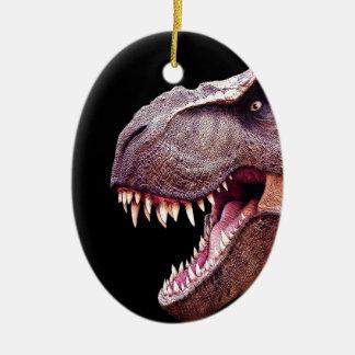 Ornement Ovale En Céramique Dinosaures T-Rex