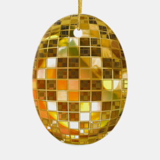 Ornement Ovale En Céramique Disco de partie de lumière de danse de saut de