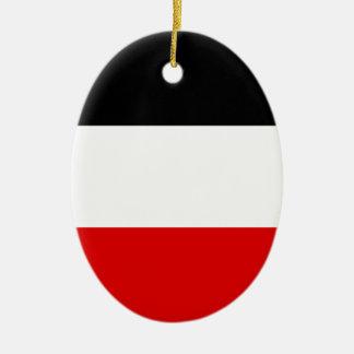 Ornement Ovale En Céramique Drapeau allemand impérial - Deutsches Kaiserreich