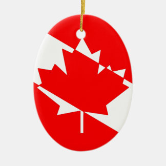 Ornement Ovale En Céramique Drapeau canadien de plongeur autonome