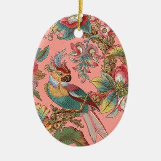 Ornement Ovale En Céramique Duchesse de ~ de perroquet d'Edwardian