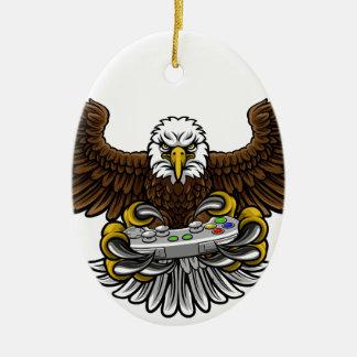 Ornement Ovale En Céramique Eagle Esports folâtre la mascotte de Gamer