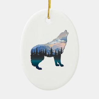 Ornement Ovale En Céramique Écho de Yellowstone