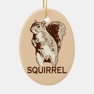 Ornement Ovale En Céramique écureuil