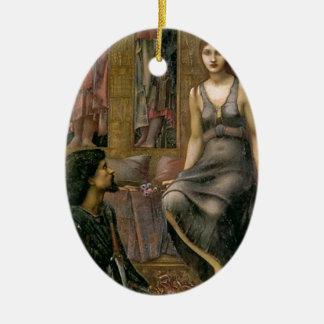 Ornement Ovale En Céramique Edouard - le Roi Cophetua et la domestique de