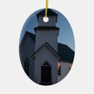 Ornement Ovale En Céramique Église de pays
