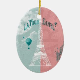 Ornement Ovale En Céramique Eiffel Tower Paris France La Tour Eiffel 1889