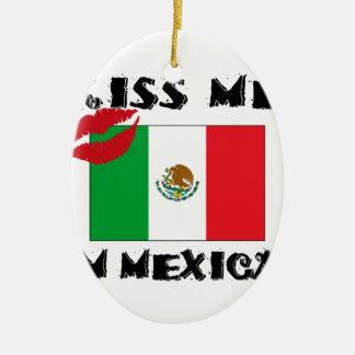Ornement Ovale En Céramique embrassez-moi que je suis mexicain