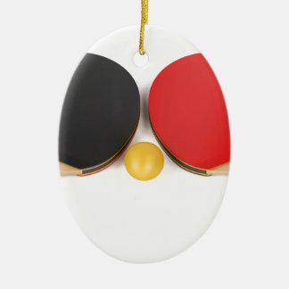 Ornement Ovale En Céramique Équipement de ping-pong