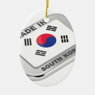 Ornement Ovale En Céramique Fabriqué en Corée du Sud