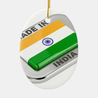 Ornement Ovale En Céramique Fabriqué en Inde