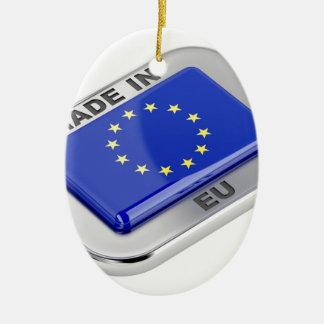 Ornement Ovale En Céramique Fait dans l'Union européenne