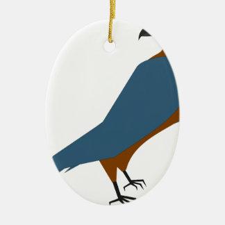 Ornement Ovale En Céramique faucon