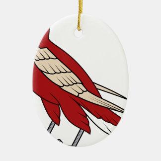 Ornement Ovale En Céramique faucon #4