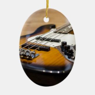 Ornement Ovale En Céramique Ficelles basses basses d'instrument de la guitare