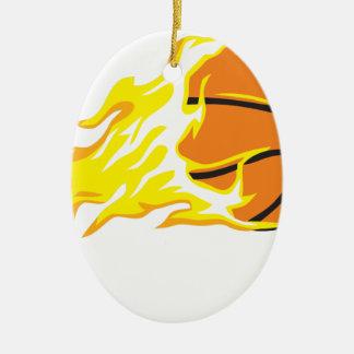 Ornement Ovale En Céramique flamme de bball