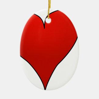 Ornement Ovale En Céramique Flèche par le coeur