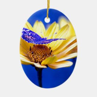 Ornement Ovale En Céramique fleur