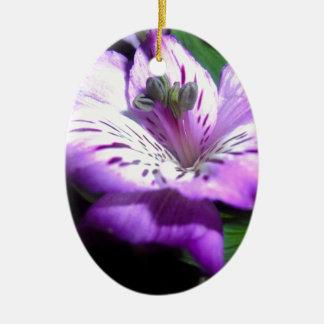Ornement Ovale En Céramique Flora pourpre