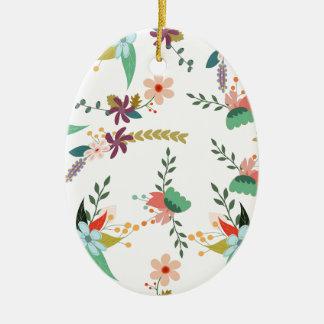 Ornement Ovale En Céramique Floral, art, conception, beau, nouvelle, mode,