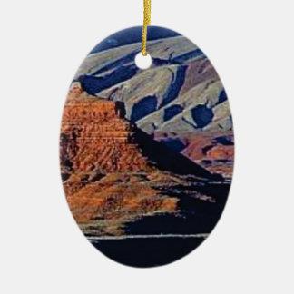 Ornement Ovale En Céramique formes naturelles du désert