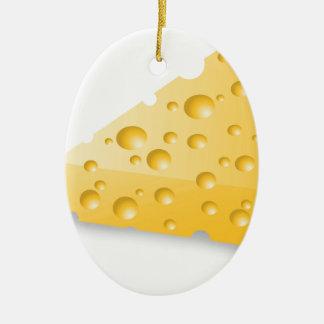 Ornement Ovale En Céramique fromage