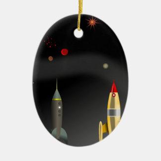 Ornement Ovale En Céramique fusée