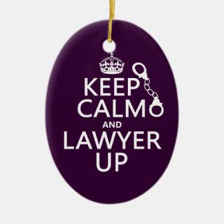 Ornement Ovale En Céramique Gardez le calme et l'avocat (toute couleur)