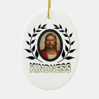 Ornement Ovale En Céramique gentillesse Jésus
