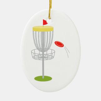 Ornement Ovale En Céramique Golf de disque de frisbee