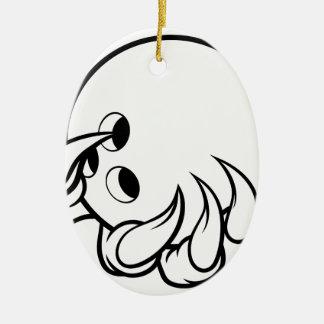 Ornement Ovale En Céramique Griffe animale de monstre tenant la boule de