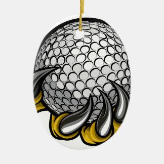 Ornement Ovale En Céramique Griffe de monstre ou d'animal tenant la boule de