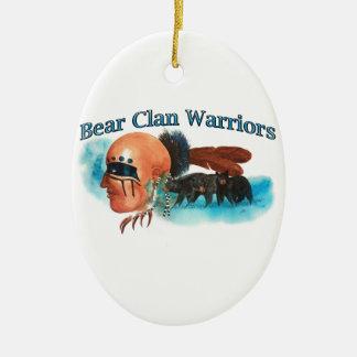 Ornement Ovale En Céramique Guerriers de clan d'ours