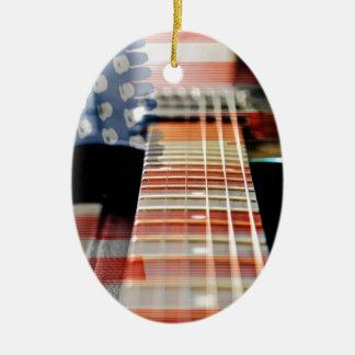 Ornement Ovale En Céramique Guitare électrique de guitare de bannière des