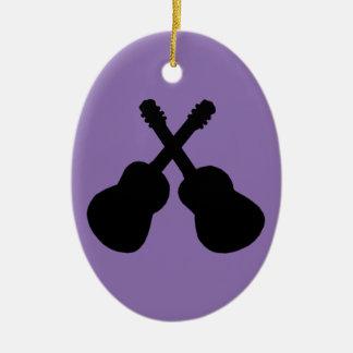 Ornement Ovale En Céramique guitares noires