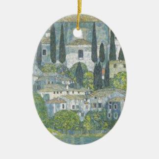 Ornement Ovale En Céramique Gustav Klimt - église dans l'oeuvre d'art de