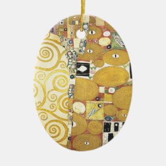 Ornement Ovale En Céramique Gustav Klimt - l'étreinte - illustration classique